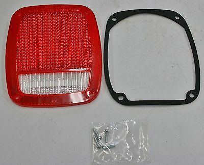 1967-87 Stop/Tail/Back-up Lens (Pillow-Optic) Chevrolet GMC Dodge Ford Jeep