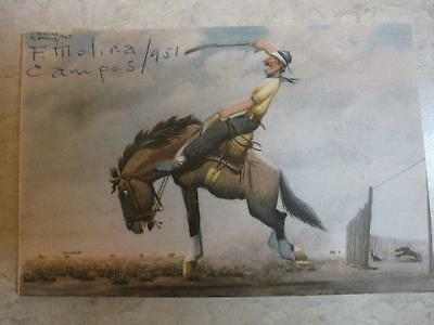 Small reproduction? F Molina Campos SIGNED of gaucho on horse