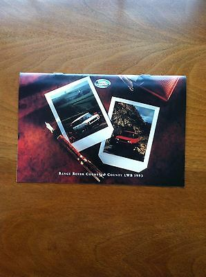 1993 Land Rover, Range Rover Country & Country Lwb Sales Brochure, Original Item