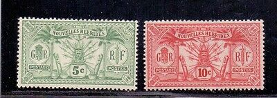 New Hebrides - French issues. 5c and 10c LH Mint. 1913