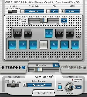 Antares Auto-Tune EFX 3 Real Time Auto Tune Plus Vocal Effects  Autotune EFX3
