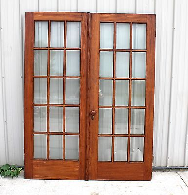 1900 1910 Oak Total 30 Paines Glass French Style Architectural House Home Doors