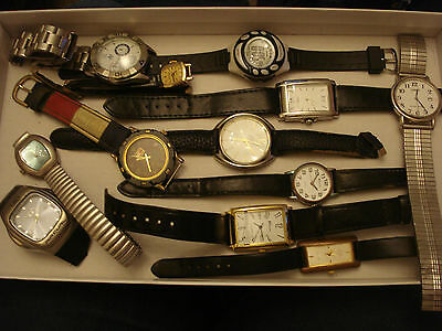 Joblot watches used broken watches for spares repair or scrap  25/8/w1