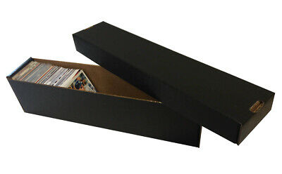 10 - 800ct 2pc Cardboard Vertical Baseball Trading Card Storage Boxes Max BLACK