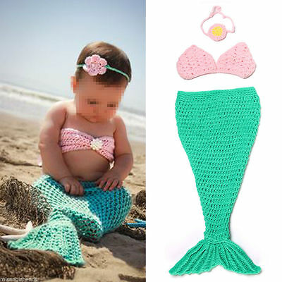 Newborn Baby Girls Boys Crochet Knit Costume Photo Photography Prop Outfits #06