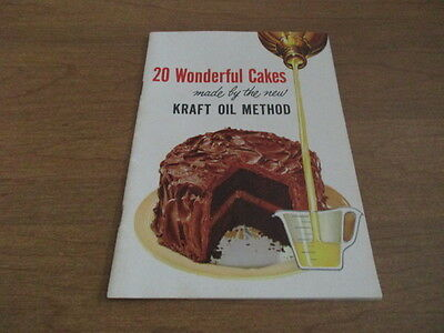 20 Wonderful Cakes Made By The New Kraft Oil Method Booklet