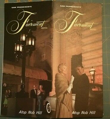 1950's San Francisco, CA FAIRMONT HOTEL Illustrated Foldout Brochure with Photos