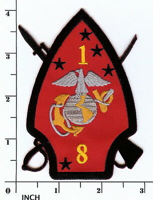 USMC 1st Battalion/8th Marines larger! PATCH 1/8 Beirut OIF Iraq! 1st Bn/8th Mar