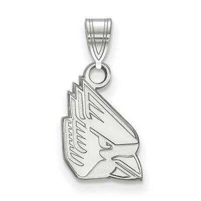 925 Sterling Silver Rhodium-plated Laser-cut University of Mississippi Large Dog Tag Pendant