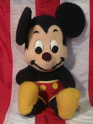 Vintage Mickey Mouse Plush Disney Characters  Stuffed California Stuffed Toy