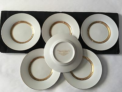 Retroneu China Imperial Gold 22K Gold Trim Saucers 6 3/16 Wide.  (Set of 6)