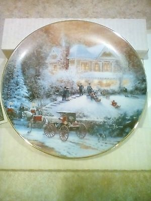Bradford Exchange ALL FRIENDS ARE WELCOME Thomas Kinkade Limited Edition Plate