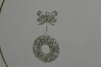 Spun Glass Wreath Christmas Tree Ornament new winter holiday decorations