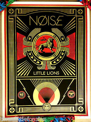 Shepard Fairey OBEY - Noise Little Lions - screenprint, sold out, in-hand