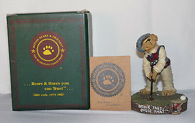 Boyds Bears BEARSTONE Birdie This Bogie That Putter Parfore Retired 228359