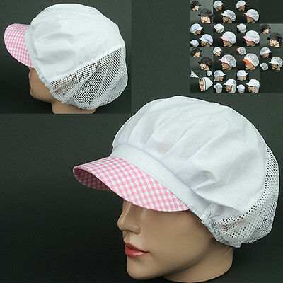 COOK half Mesh CK PINK WHITE chef catering baker Kitchen food factory worker Hat