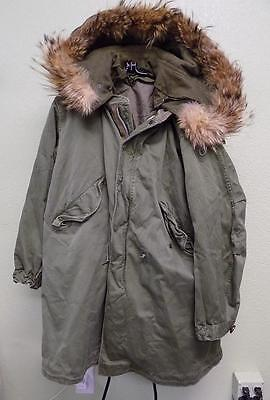 M-1951 Fishtail Parka w/ Frieze Wool Liner + Real Fur Hood Medium Excellent M51