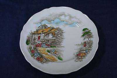 Vintage Alfred Meakin Staffordshire China Plate-Famous Cottages-Anne Hathaway's