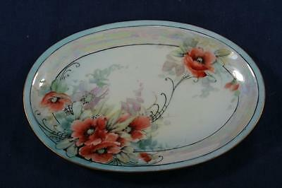 Vintage Bone China Oval Tray Soap Dish-Floral Pattern
