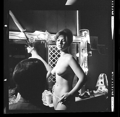 60s Vintage Nude Negative Photo~Rotsler~Sexy Busty Big Boobs Puffy Slopes Pinup