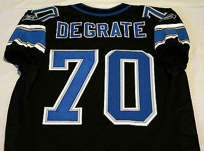 #70 Victor DeGrate Authentic Game Issued Detroit Lions Rare Black Jersey