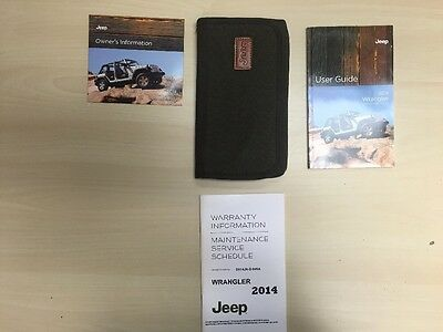 Jeep Wrangler 2014 Owners Manual Book  + Case + Free Shipping/ DVD