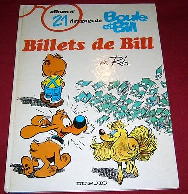 Boule & Bill Album N°21 - Billets De Bill - Roba - Dupuis - Eo