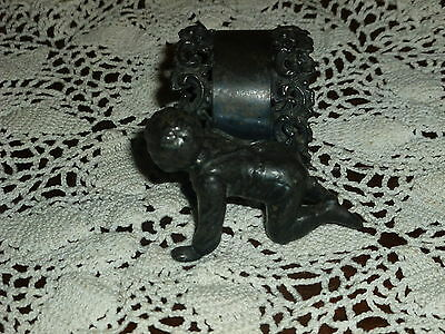 Gorgeous Figural Napkin Ring! Wm. Rogers Mfg Co., Quad Plate, Crawling Baby!