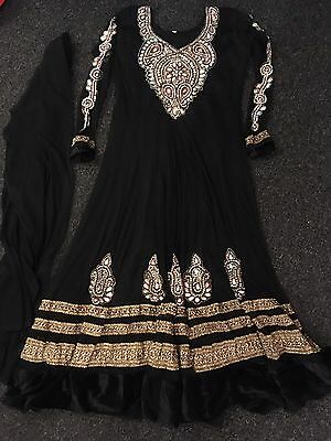 New Black And Gold Long Dress