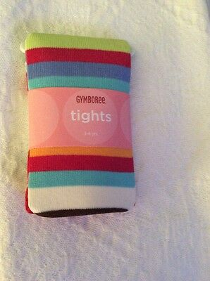 GYMBOREE Striped Tights Sugar And Spice Line NWT Size 3- 4 Years