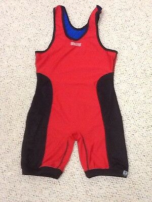 New Brute Reversible Wrestling Singlet - Size M - Blue/Red