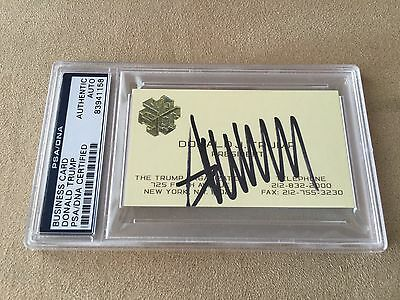 DONALD TRUMP SIGNED Business Card - PSA / DNA Authenticated!   Rare!