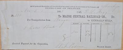 1865 Civil War Maine Central Railroad Shipping Bill Mike Wolfe American Pickers