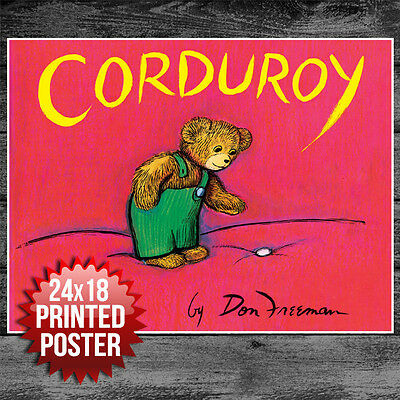 Book Cover Art Print Poster Corduroy Unique Gift
