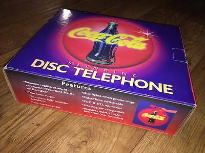 Coca Cola Blinking Disc Telephone New In Box 1995 Never Used