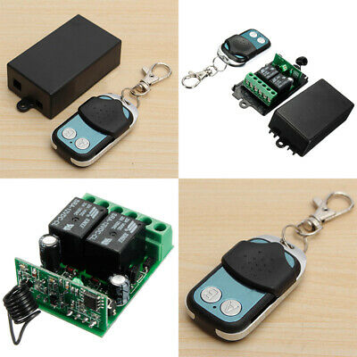 DC 12V 2CH Channel Wireless RF Remote Control Switch Transmitter Receiver New