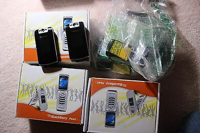 Lots of 6 Blackberry 8220 Cell Phones.  Customer Return. Include Accessories