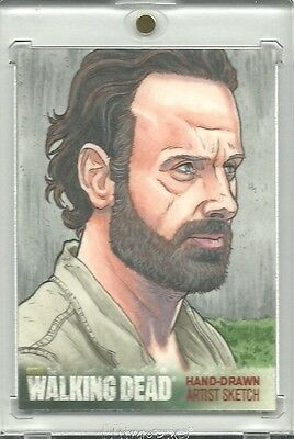 Cryptozoic Walking Dead Season 4 Rick Grimes 1/1 Sketch by Nathan Nelson