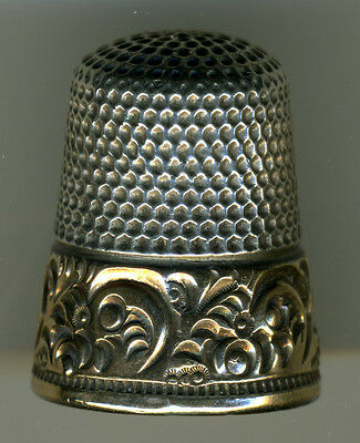 Lot of 2 Antique Sterling Silver Thimbles from Ketcham McDougall