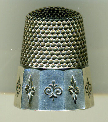 Lot of 3 Antique Sterling Silver Thimbles from Waite Thresher Co