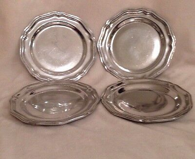 Lot of 4 Wilton Armetale RWP Queen Anne Glossy Plates 7 Inch