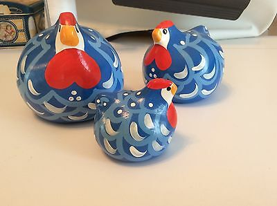 Set of 3 Happy Hen Collectable Figurines from New Zealand