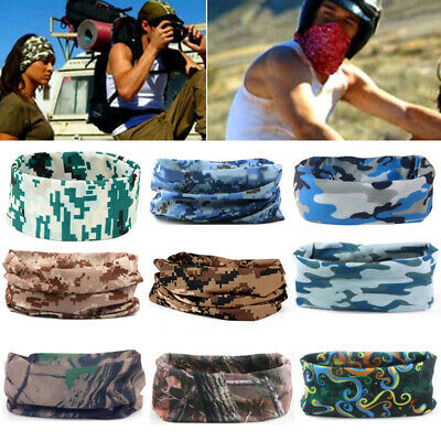 Cycling Camo Tube Scarf Bandana Head Face Mask Neck Gaiter Snood Sports Headwear