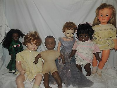 6 Vintage Dolls Ideal and more