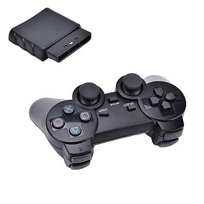 New Black Wireless Shock Game Controller for Sony PS2  SEAU
