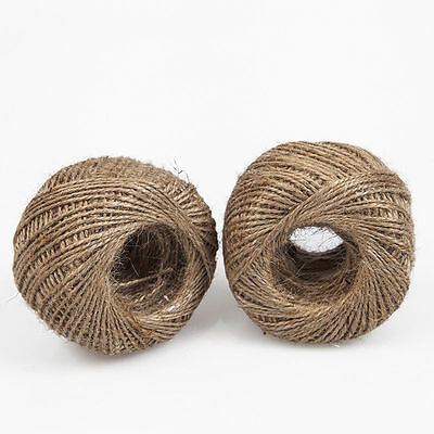 New 100 Yards 2mm Natural Brown Jute Hessian Twine Sisal Rustic String Cord
