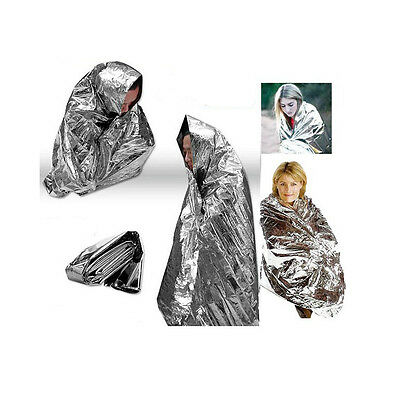 "Wholesale Survival Emergency Blanket Thermal Rescue Space Mylar Blanket 52""x 82"""