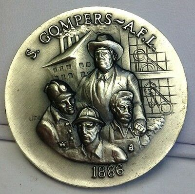 Heavy 1 Oz .925 Sterling Silver LONGINES Collectable Coin S. GOMPERS-A.F.L