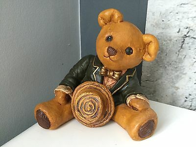 ��Vintage Ceramic Teddy Bear hand Crafted  �� Collectable