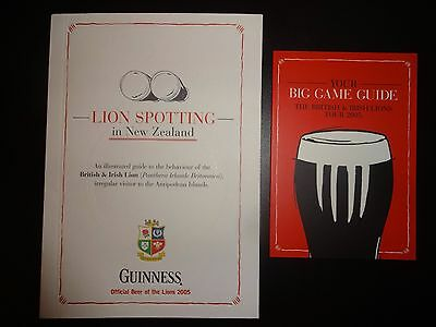 Guinness 'Lion Spotting In New Zealand'  British Lions Tour booklet 2005